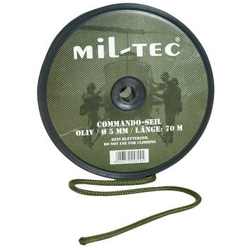 Commando Seil oliv, 9 mm, 30 m Rolle