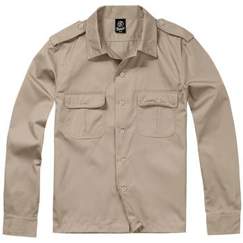 US Hemd langarm schwarz
