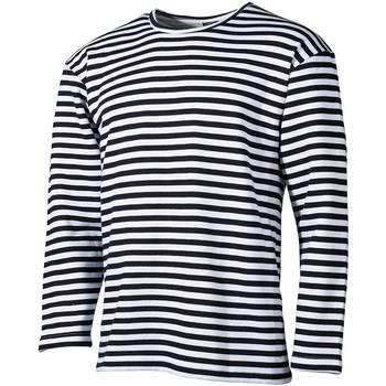 Marine Pullover Winter gestreift