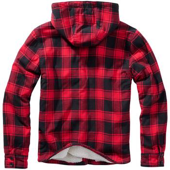Hooded Lumberjacket rot-schwarz, M