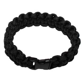 Survival Armband PARACORD 19 mm, schwarz
