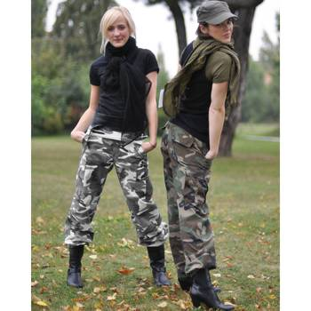 US Damen BDU Hose woodland washed