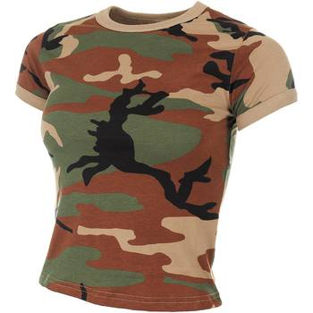 Damen T-Shirt, woodland